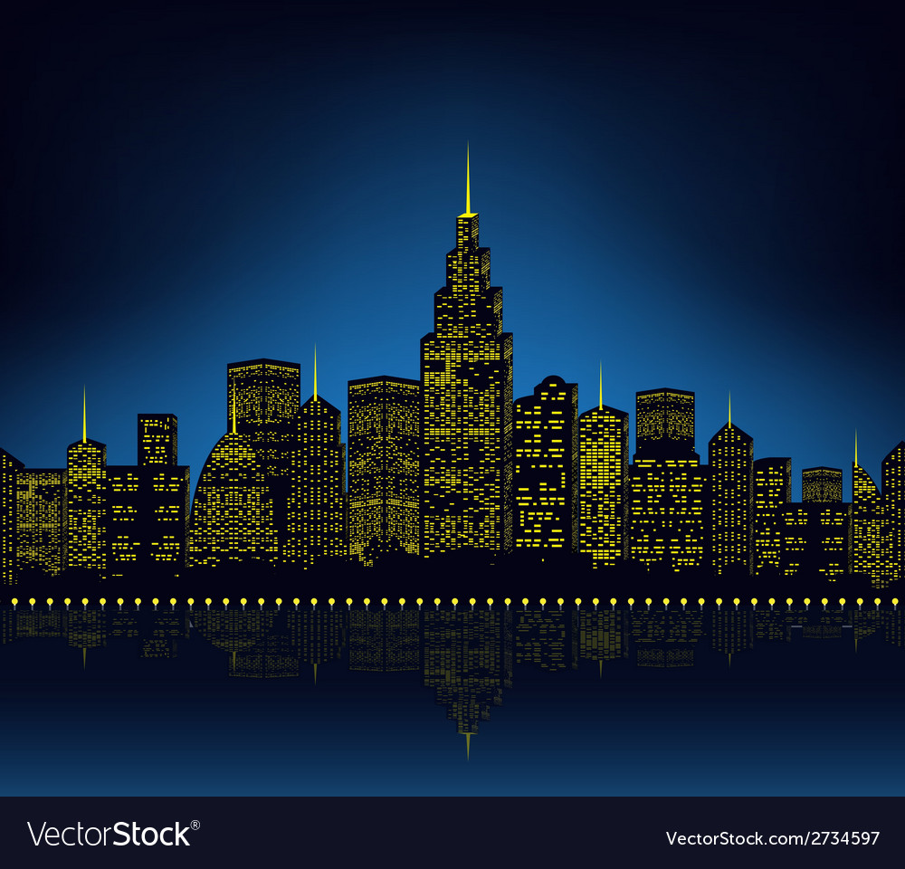 City lights cityscape vector | Price: 1 Credit (USD $1)