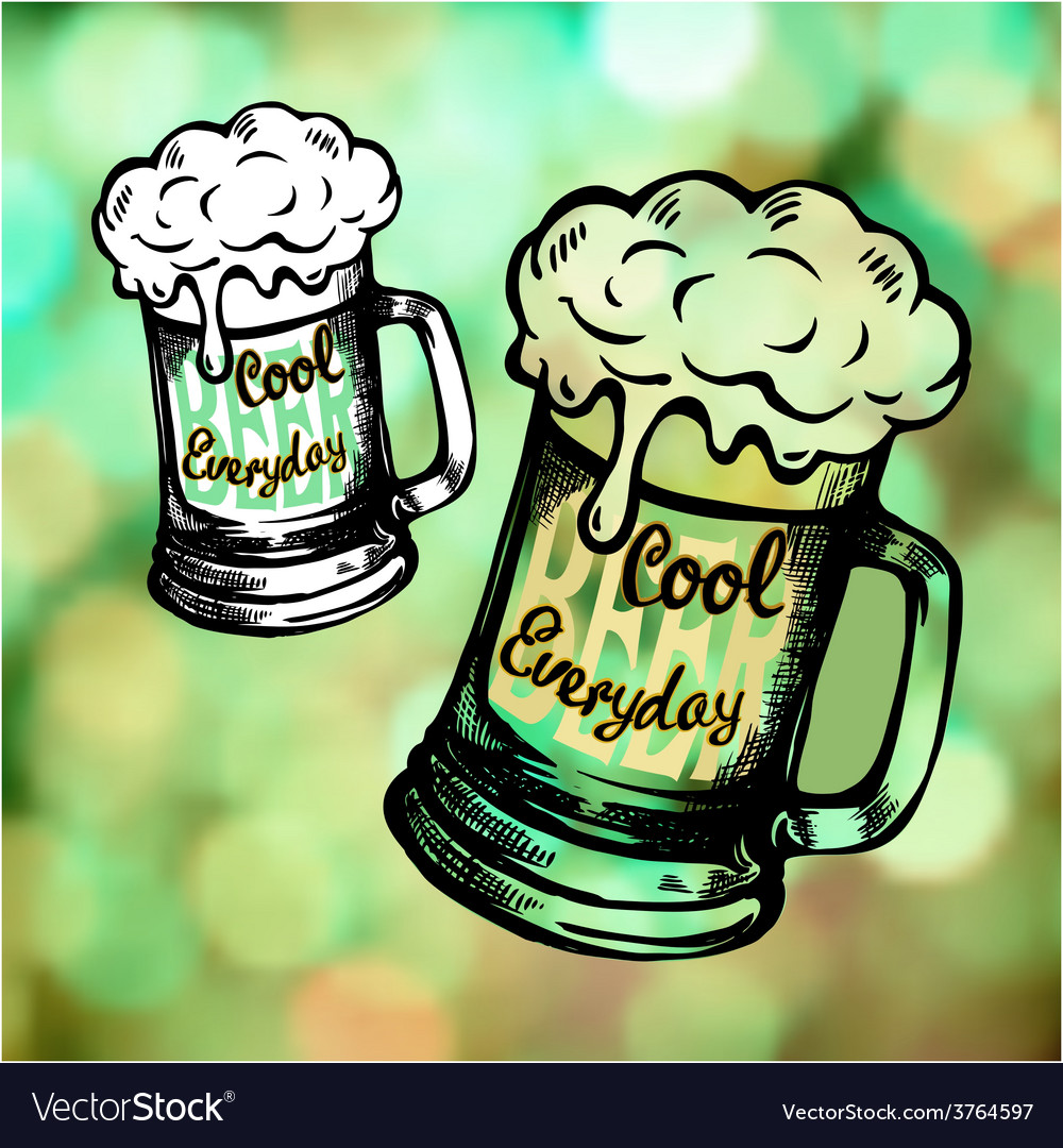 Irish holiday green beer spirit vector | Price: 1 Credit (USD $1)