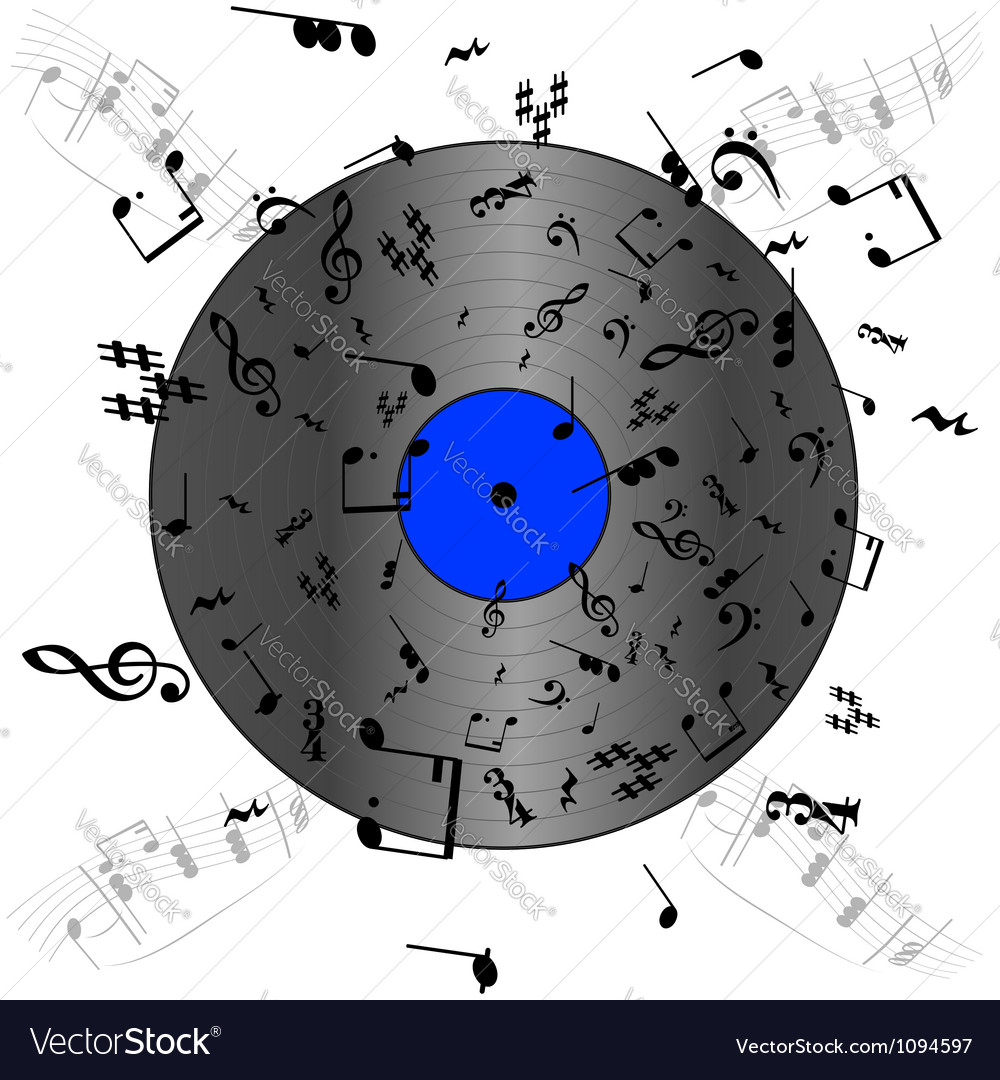 Music record vector | Price: 1 Credit (USD $1)