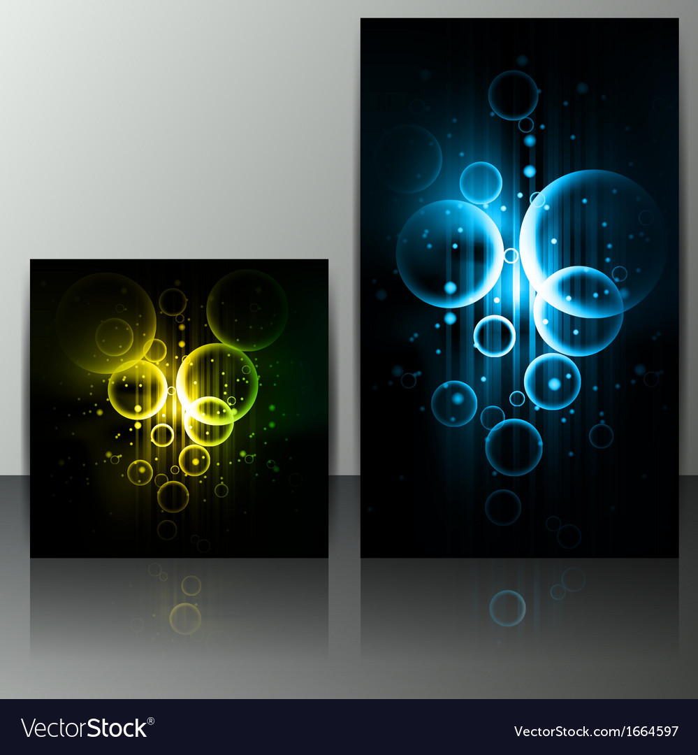 Set of abstract banners with lines and geometric vector | Price: 1 Credit (USD $1)