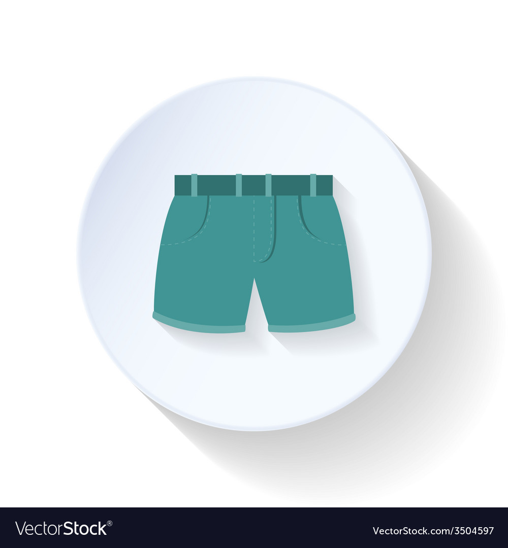 Shorts flat icon vector | Price: 1 Credit (USD $1)