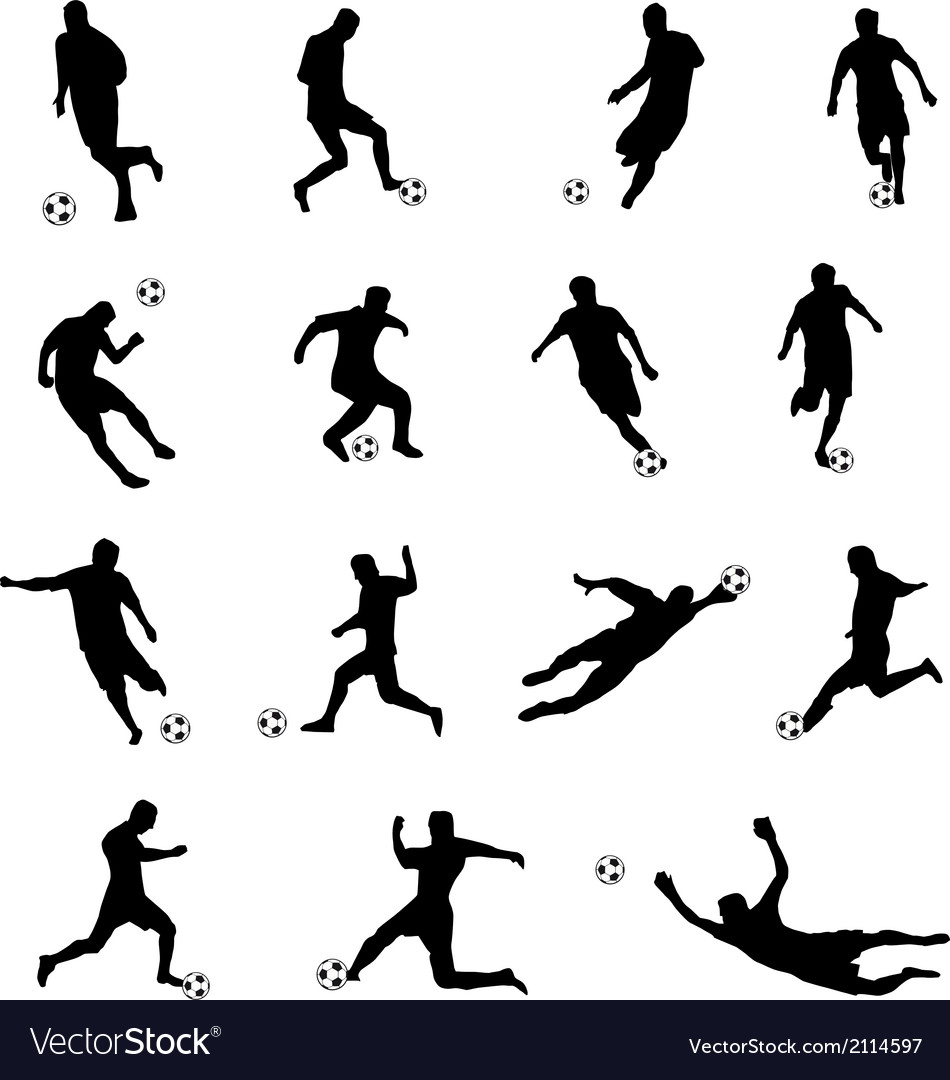 Silhouettes of football players vector | Price: 1 Credit (USD $1)