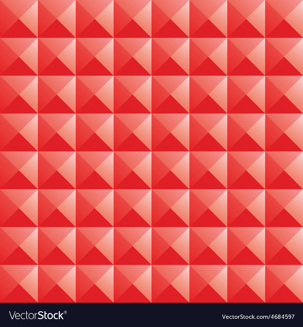 Triangle red jewel texture seamless background vector | Price: 1 Credit (USD $1)