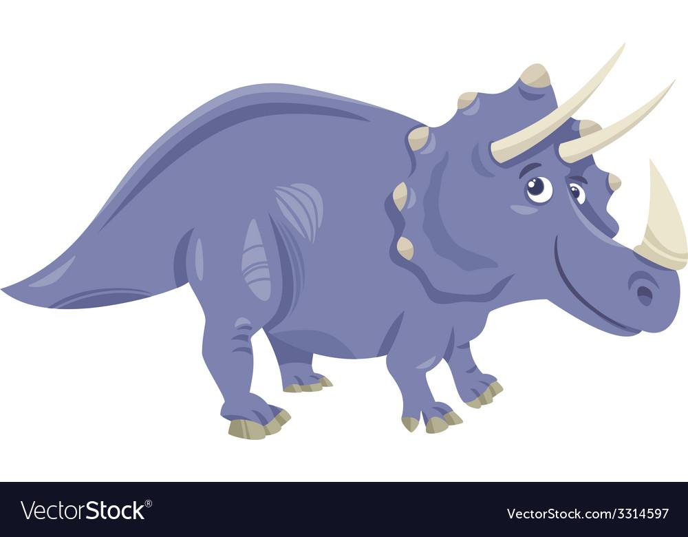 Triceratops dinosaur cartoon vector | Price: 1 Credit (USD $1)