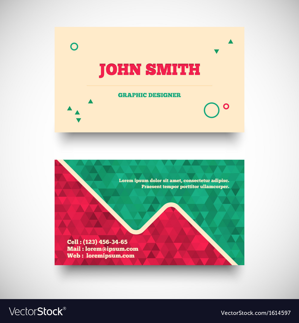 Vintage business card set vector | Price: 1 Credit (USD $1)