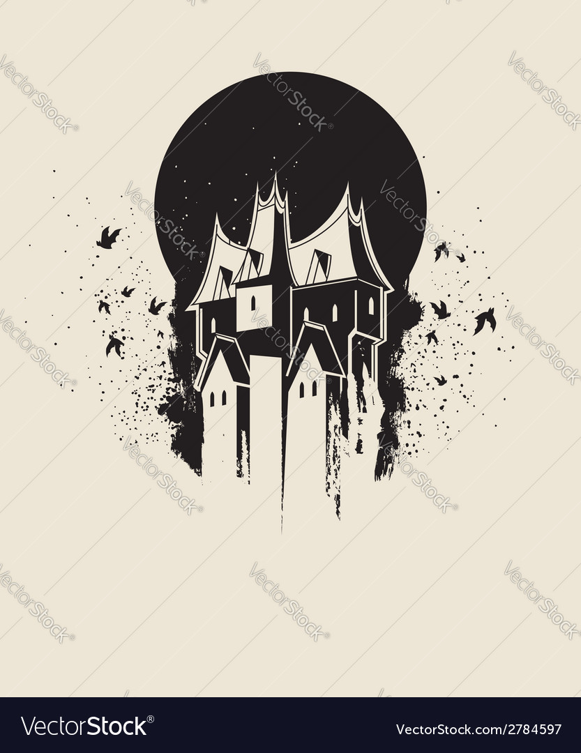 Witch castle vector | Price: 1 Credit (USD $1)
