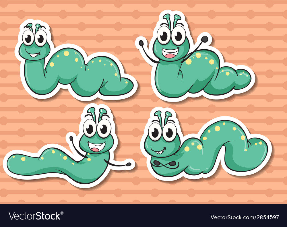 Worm set vector | Price: 1 Credit (USD $1)