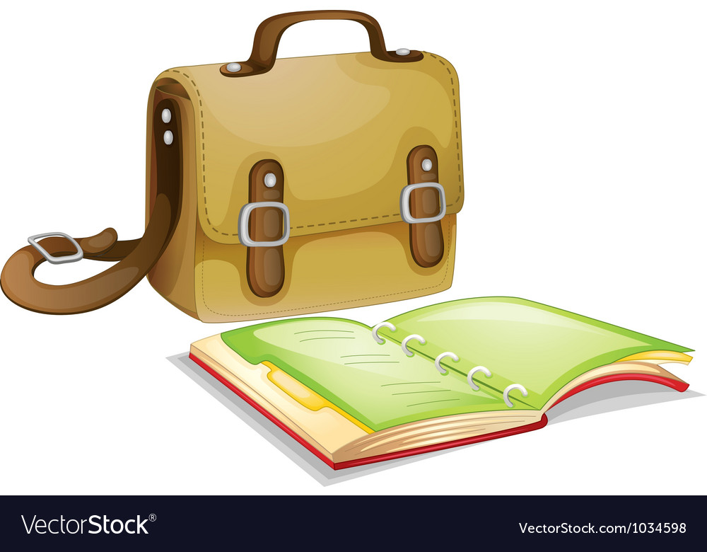 Backpack and journal vector | Price: 1 Credit (USD $1)