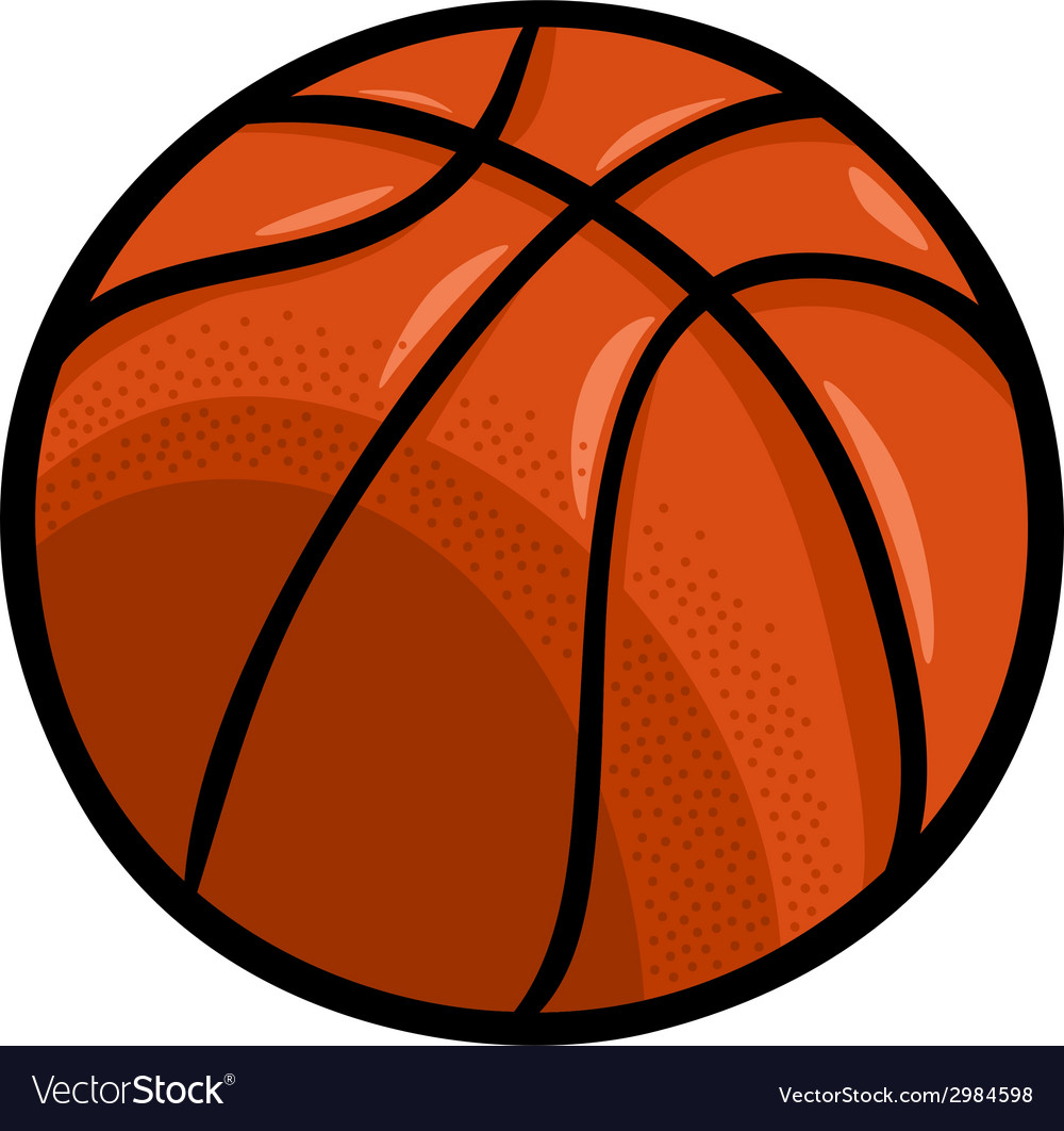 Basketball ball cartoon clip art vector | Price: 1 Credit (USD $1)