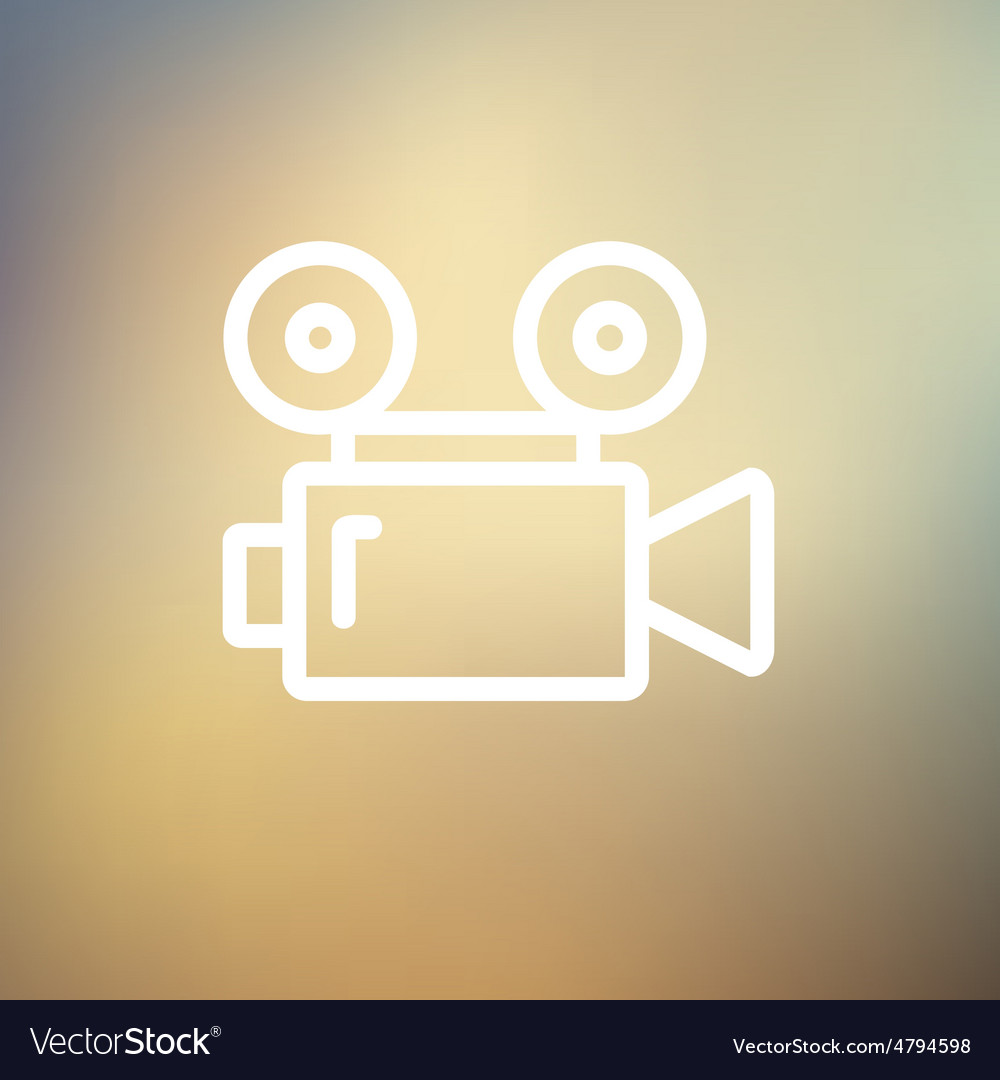 Cinematography thin line icon vector | Price: 1 Credit (USD $1)