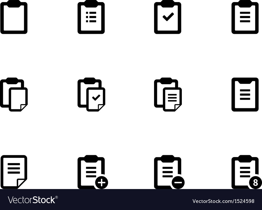 Clipboard icons on white background vector | Price: 1 Credit (USD $1)