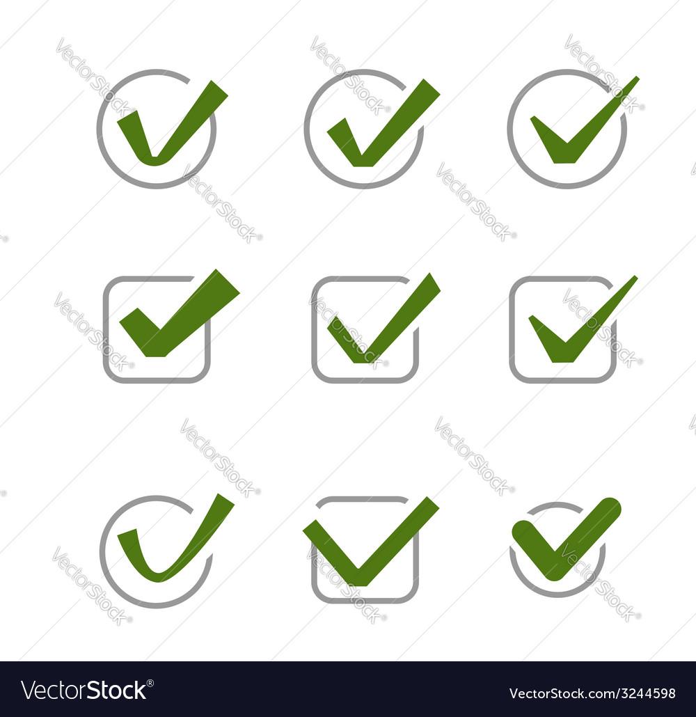 Confirm icon vector | Price: 1 Credit (USD $1)
