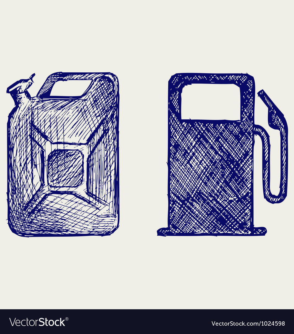 Gas station and jerrycan vector | Price: 1 Credit (USD $1)