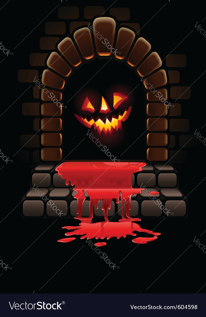 Halloween fireplace vector | Price: 3 Credit (USD $3)