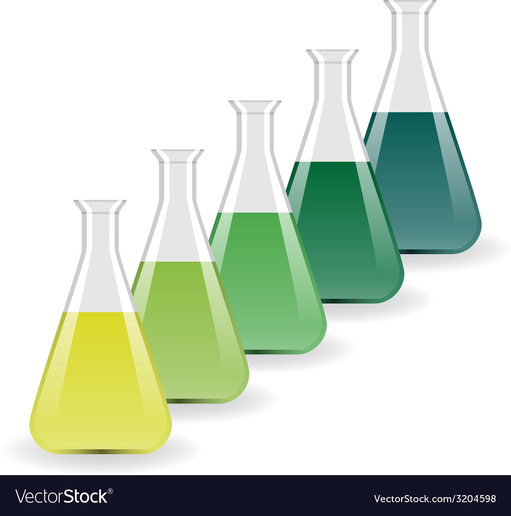 Laboratory flasks vector | Price: 1 Credit (USD $1)