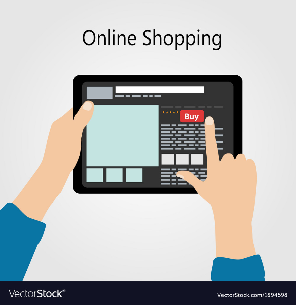 Online shopping flat concept vector | Price: 1 Credit (USD $1)