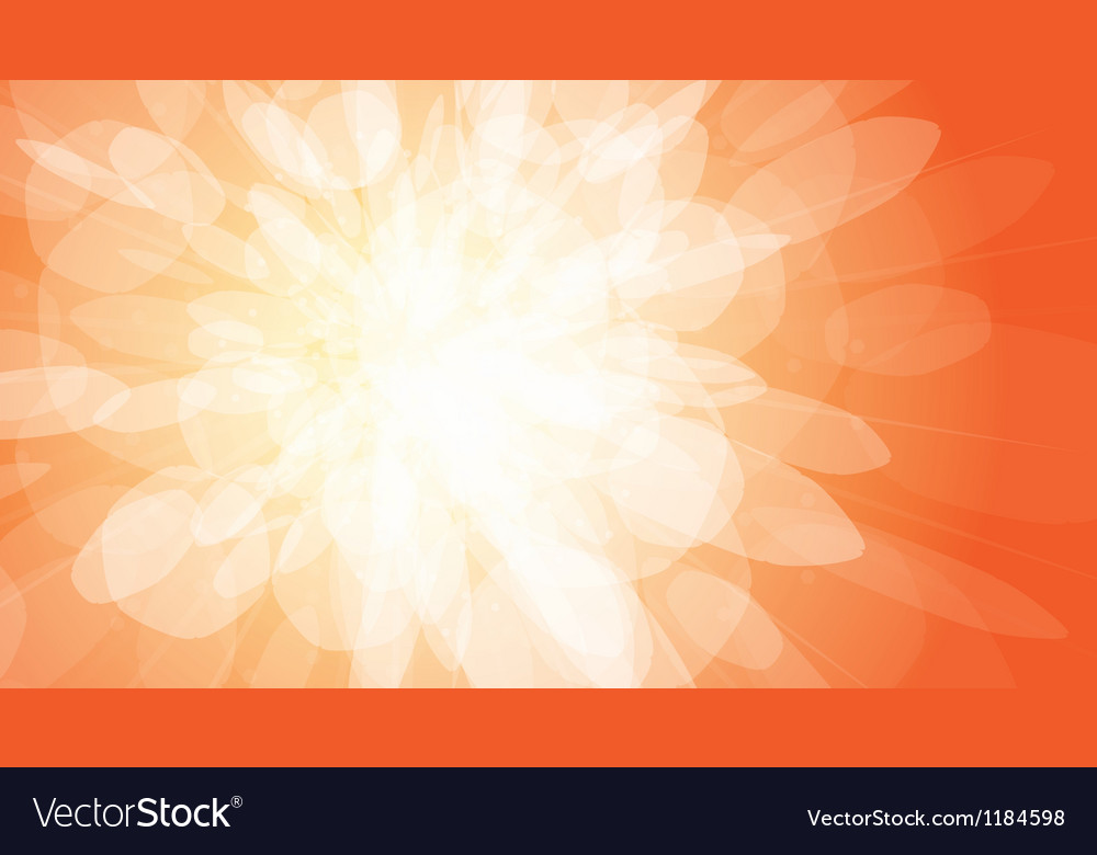 Orange light burst background vector | Price: 1 Credit (USD $1)