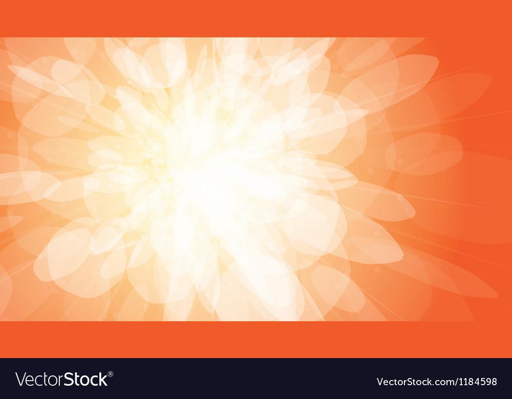 Orange light burst background vector | Price: 1 Credit (USD $1)