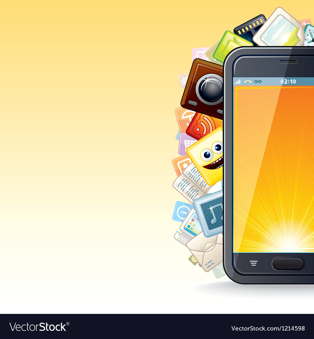 Smart phone apps poster vector | Price: 1 Credit (USD $1)