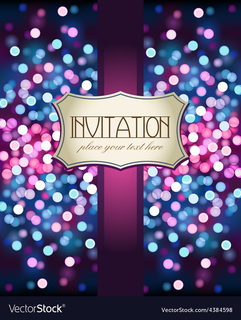 Template frame design for invitation vector