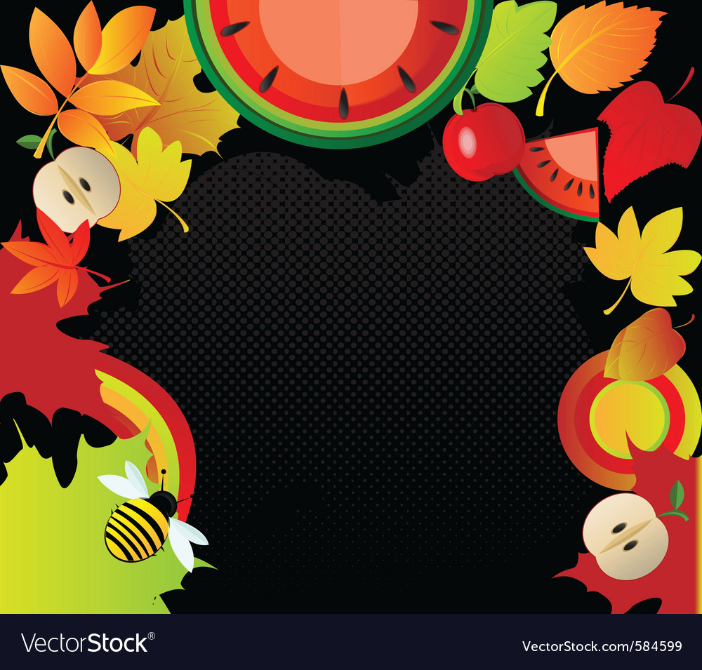 Autumn border vector | Price: 1 Credit (USD $1)