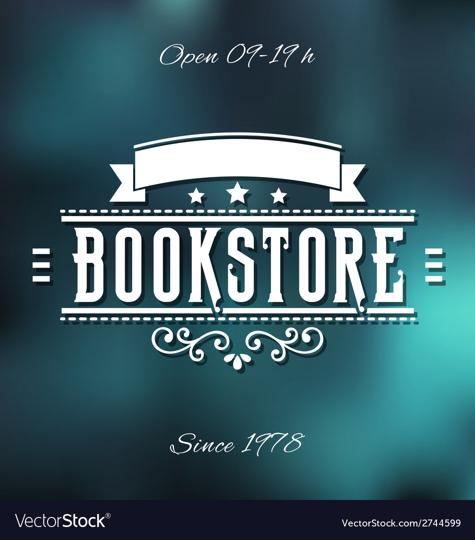 Bookstore label vector | Price: 1 Credit (USD $1)