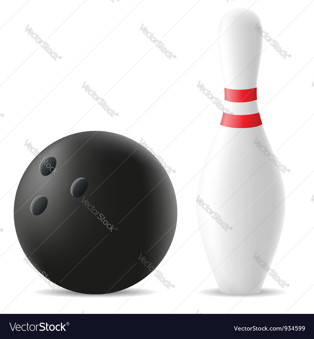 Bowling ball and skittle vector | Price: 1 Credit (USD $1)