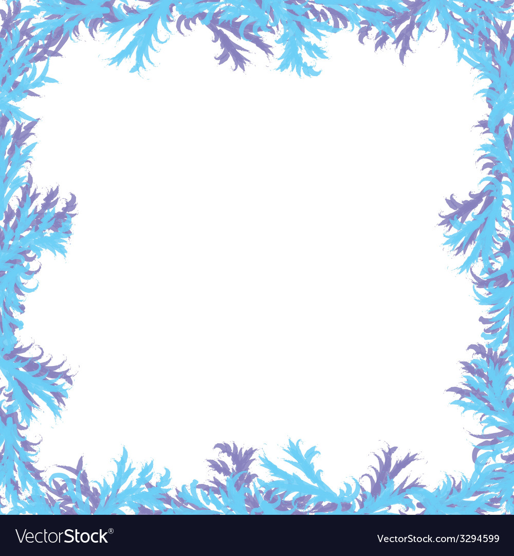 Christmas background frosty patterns frame with vector | Price: 1 Credit (USD $1)