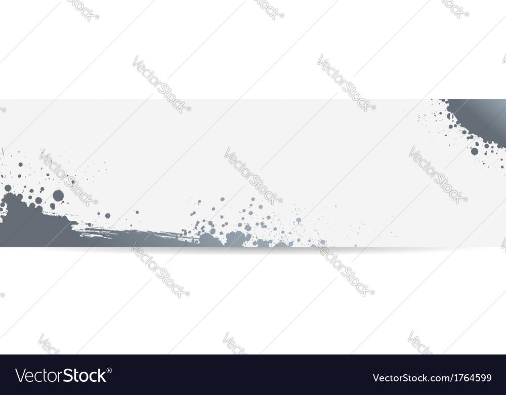 Grunge banner gray vector | Price: 1 Credit (USD $1)