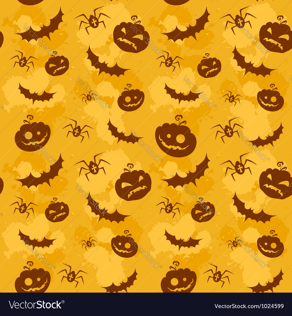 Halloween seamless background big vector | Price: 1 Credit (USD $1)