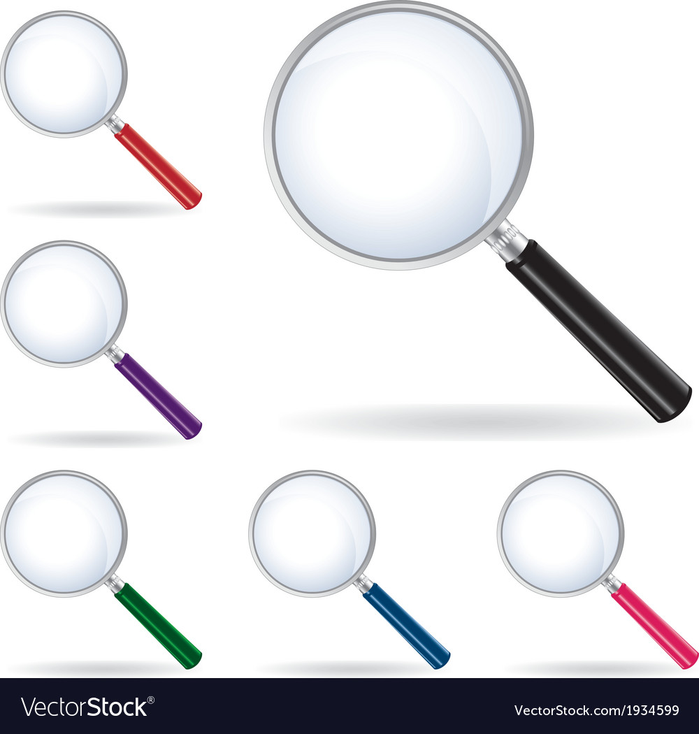 Pack magnifying glass isolated vector | Price: 1 Credit (USD $1)