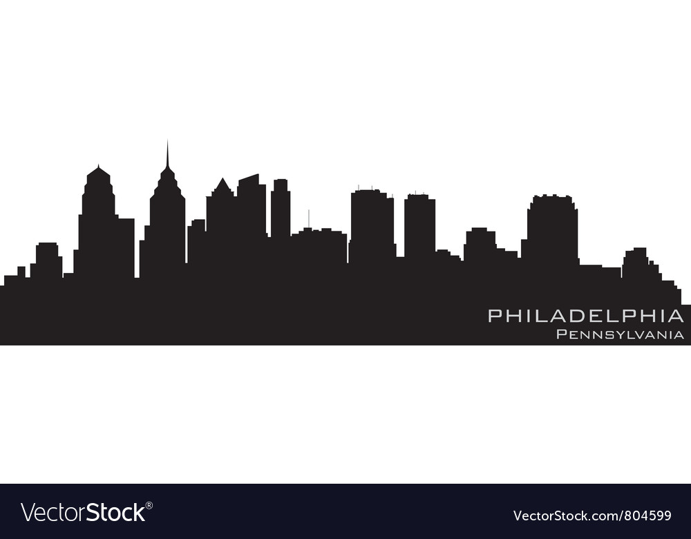 Philadelphia pennsylvania skyline detailed silhoue vector | Price: 1 Credit (USD $1)