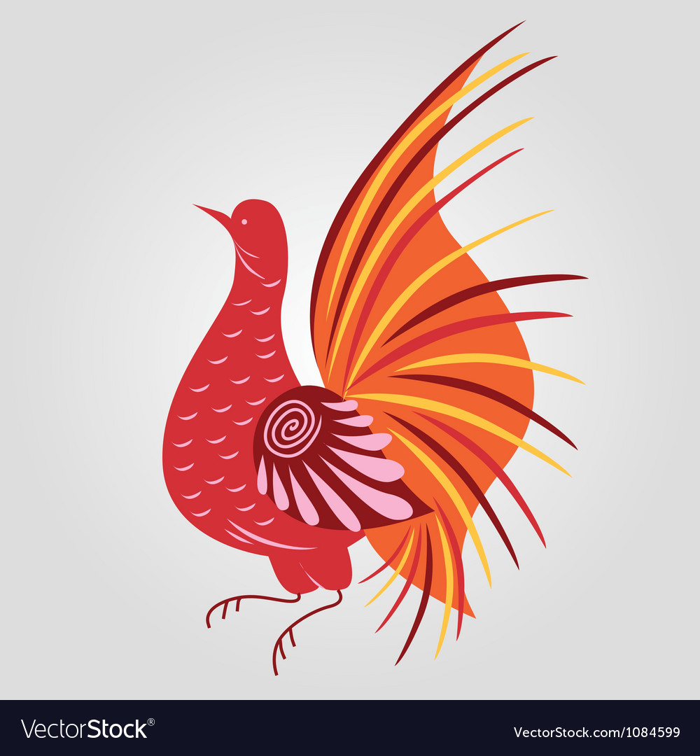 Russian style bird vector | Price: 1 Credit (USD $1)