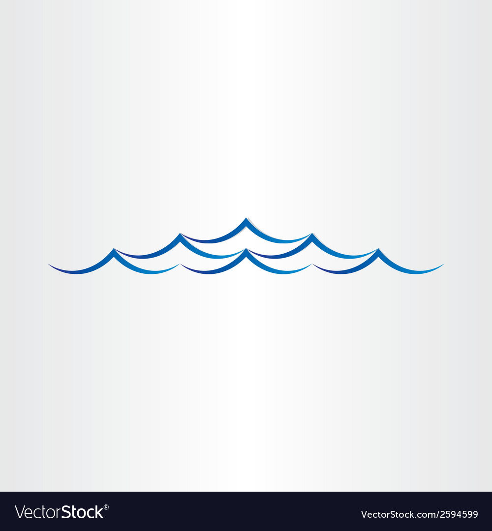 Water waves sea or ocean abstract design vector | Price: 1 Credit (USD $1)