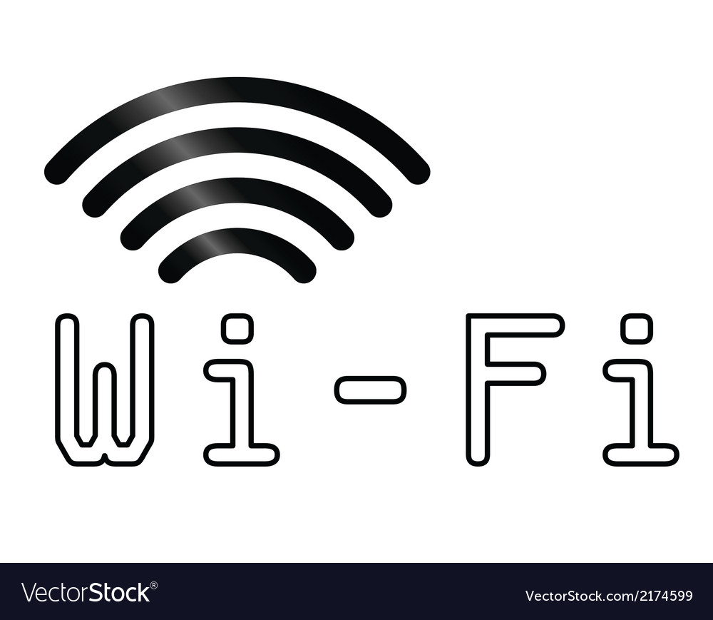 Wifi text symbol vector | Price: 1 Credit (USD $1)