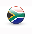 Round icon with national flag of south africa vector