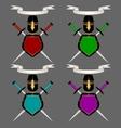 Heraldic composition set vector