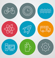 Line icons set for web site design and mobile apps vector