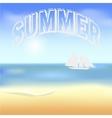 Beach and tropical sea with bright sun eps10 vector