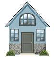 A simple single detached house vector