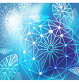 Abstract blue background with linear diamonds vector