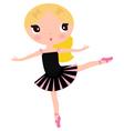 Cute posing beautiful black ballerina girl vector