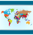 Simple colorful world map vector