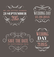 Wedding set of label badges stamp and design vector