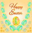Easter eggs spring background place for text vector