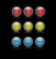Action buttons vector