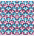 Retro circles seamless pattern vector