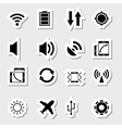 Mobile app icons as labels vector