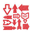 Arrows set - rubber stamp texture vector