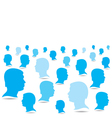 Blue business people crowd background vector